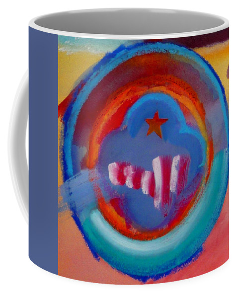Logo Coffee Mug featuring the painting Skyscrapers by Charles Stuart