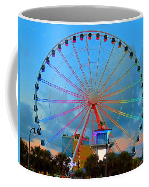 Myrtlebeach Coffee Mug featuring the photograph Skywheel by Aaron Martens