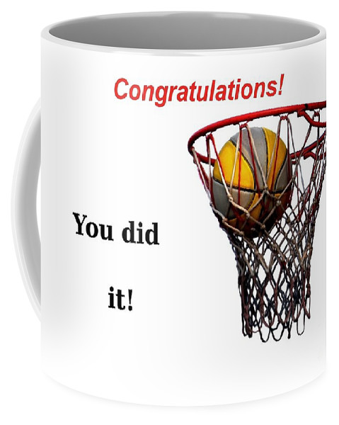 Basketball Coffee Mug featuring the photograph Slam Dunk Congratulations Greeting Card by Yali Shi