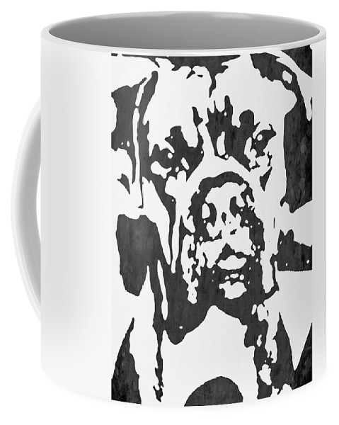 Boxer Coffee Mug featuring the photograph Slate Grey Boxer by Heather Joyce Morrill