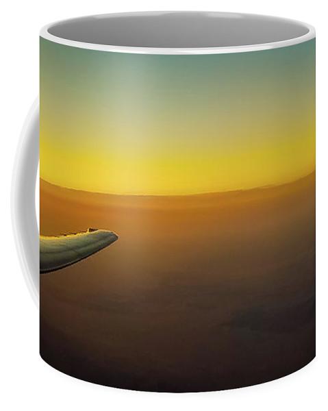 Plane Coffee Mug featuring the photograph Sleep Above The World by Jonny D