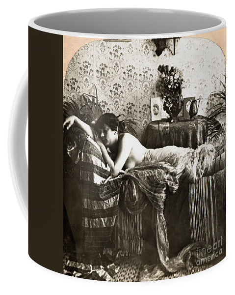 1900 Coffee Mug featuring the painting Sleeping Beauty, C1900 by Granger