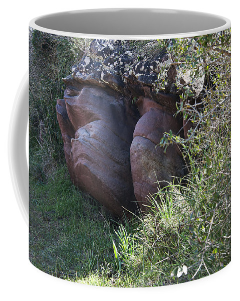 Limestone Coffee Mug featuring the photograph Sleeping In The Jungle - Stone Face In Forest by Pedro Cardona Llambias