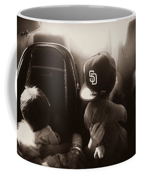 Precious Moments Coffee Mug featuring the photograph Sleeping Kids by Amanda Eberly-Kudamik