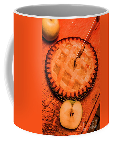 Dessert Coffee Mug featuring the photograph Slicing Apple Pie by Jorgo Photography - Wall Art Gallery