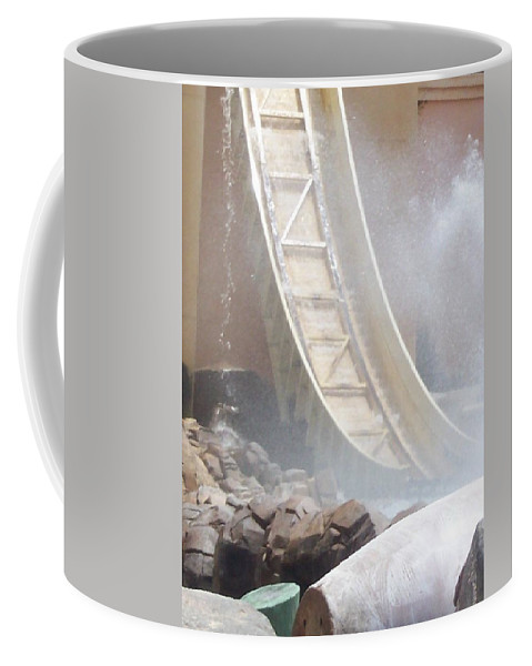 Slide Coffee Mug featuring the photograph Slide Splash by Pharris Art