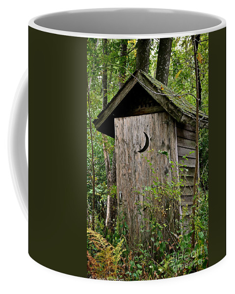 Outdoors Coffee Mug featuring the photograph Sliding Downhill by Susan Herber