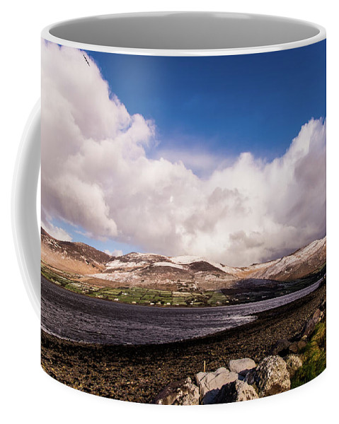 Snow Coffee Mug featuring the photograph Slieve Mish Mountain In Snow by David Rolt