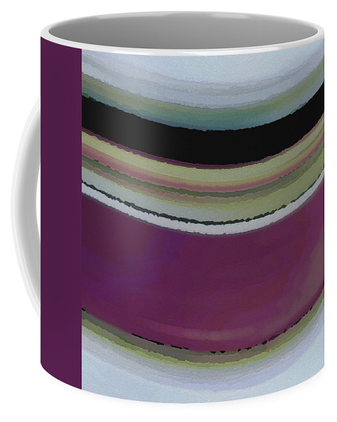 Abstract Coffee Mug featuring the digital art Slight Curve by Ruth Palmer