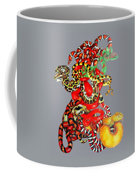 Reptile Coffee Mug featuring the drawing Slither by Barbara Keith