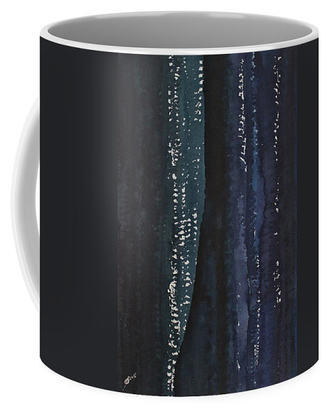 Canyon Coffee Mug featuring the painting Slot Canyon In Moonlight Original Painting by Sol Luckman