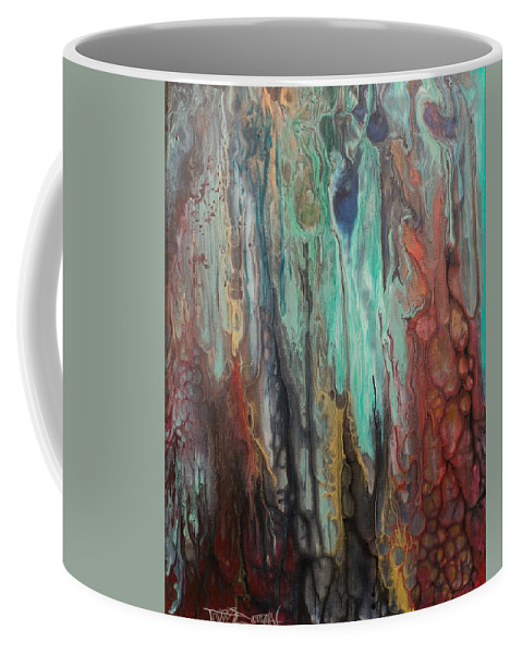 Abstract Coffee Mug featuring the painting Sloth by Tripp Doogan