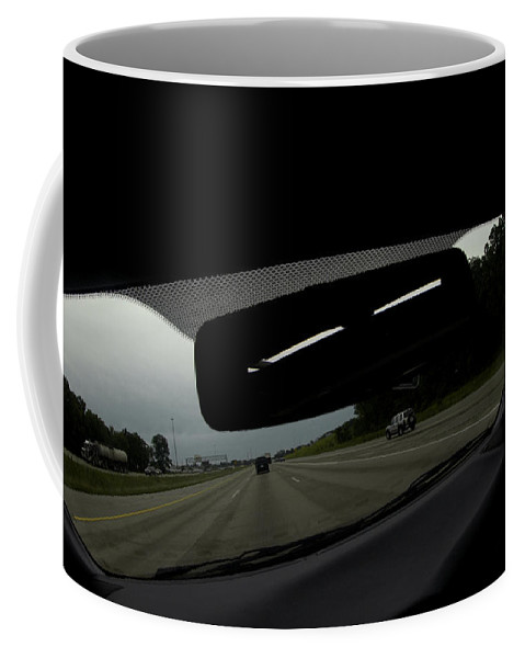 Road Coffee Mug featuring the photograph Slots For Eyes by Steven Dunn