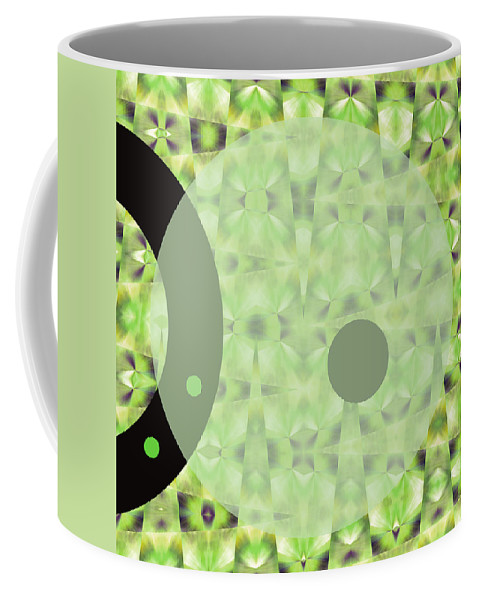 Abstract Coffee Mug featuring the digital art Slow Fade by Ruth Palmer