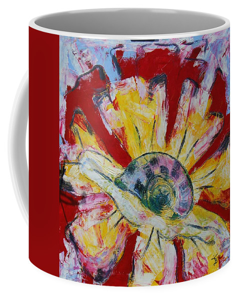 Worm Coffee Mug featuring the painting Slowly But Surely by Mihai Banutoiu