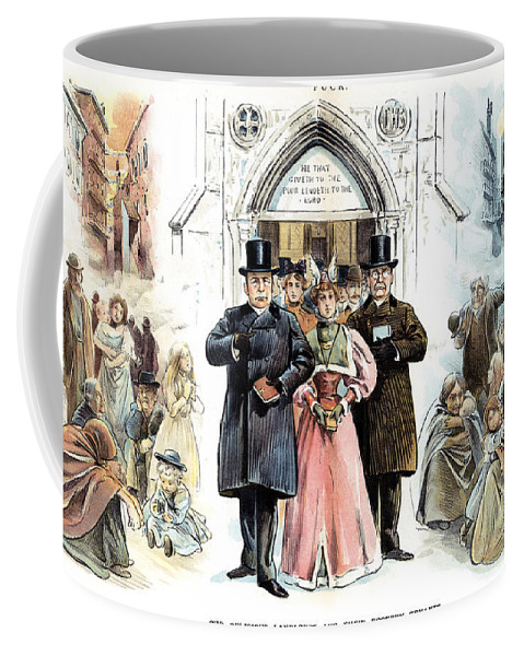 1895 Coffee Mug featuring the photograph Slum Landlords, 1895 by Granger
