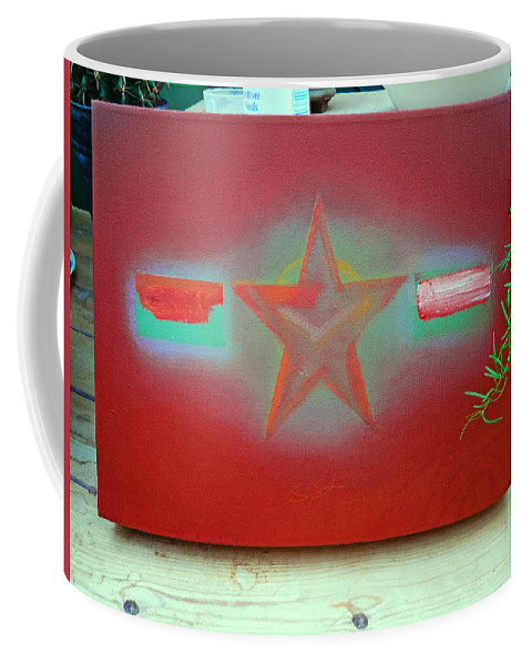 Painting Coffee Mug featuring the painting Small Canvas In The Studio by Charles Stuart