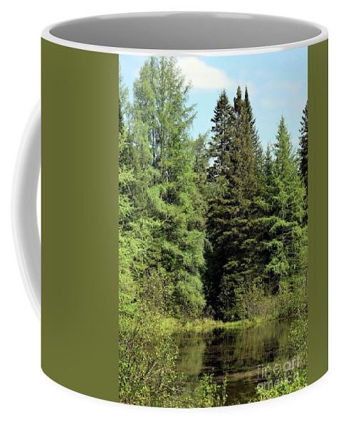 Landscape Coffee Mug featuring the photograph Small Country Pond by William Tasker