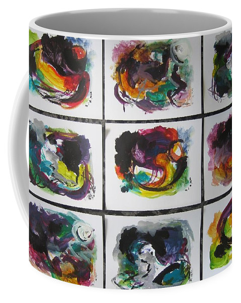 Abstract Paintings Coffee Mug featuring the painting Small Landscape4 by Seon-Jeong Kim