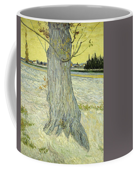 Nature Coffee Mug featuring the painting Small Pear Tree In Blossom Arles, April 1888 Vincent Van Gogh 1853 1890 by Artistic Panda