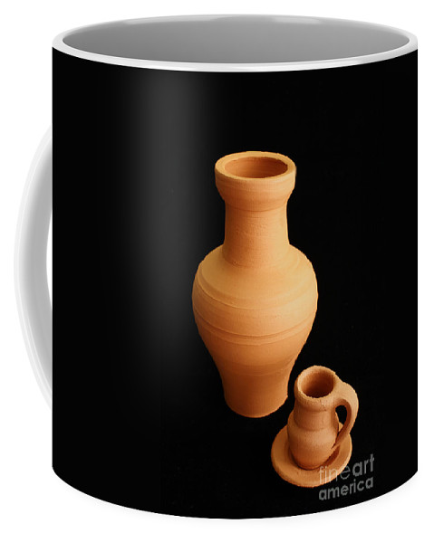 Ceramics Coffee Mug featuring the photograph Small Pottery Items by Gaspar Avila