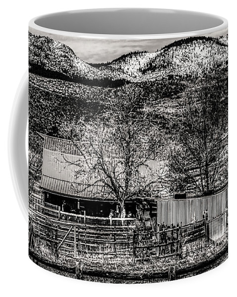 Stable Coffee Mug featuring the photograph Small Stable Loveland Colorado by Roger Passman