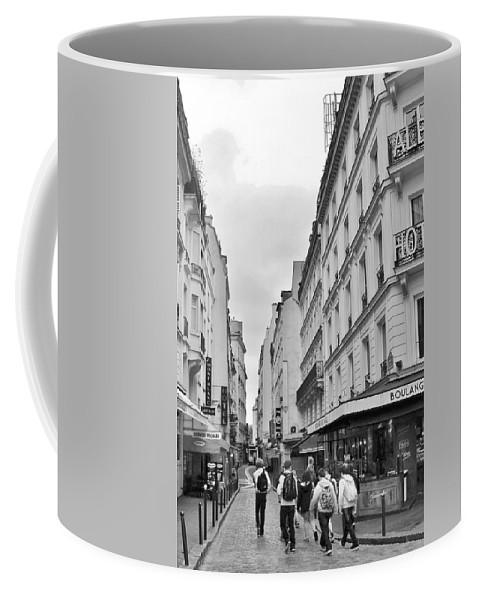 Paris Coffee Mug featuring the photograph Small Street In Paris by Kim Bemis