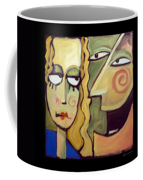 Humorous Coffee Mug featuring the painting Smile by Tim Nyberg
