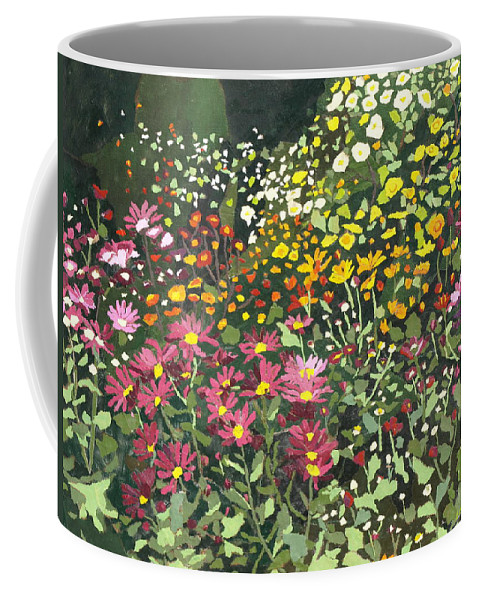 Floral Coffee Mug featuring the painting Smith Mums by Leah Tomaino