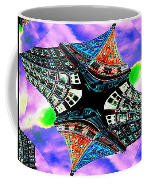 Seattle Coffee Mug featuring the digital art Smith Tower Fractal by Tim Allen