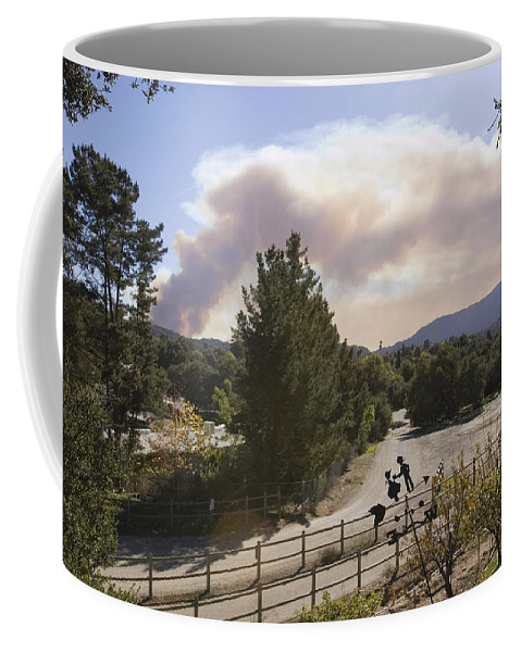 Fires Coffee Mug featuring the photograph Smoke From Ventura Wildfire, View by Rich Reid