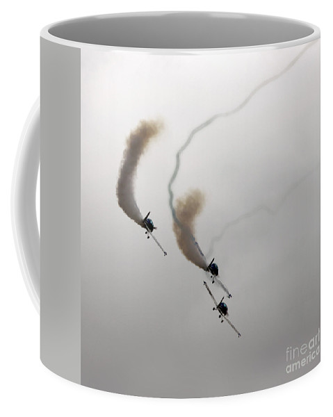 Aircraft Coffee Mug featuring the photograph Smoke Painting by Angel Ciesniarska
