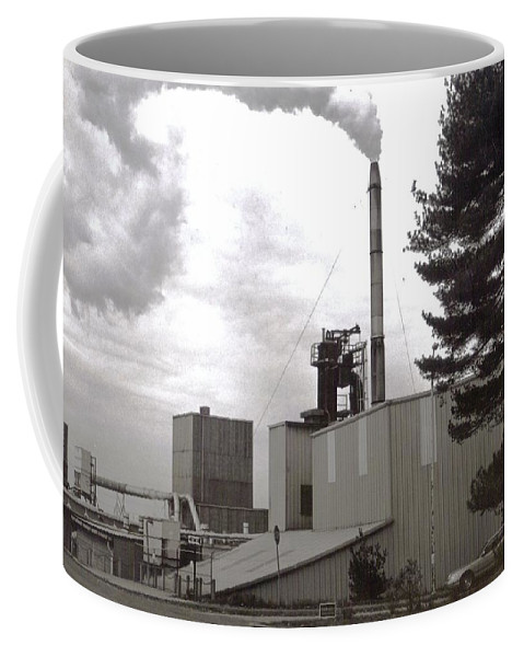 Black And White Photograph Coffee Mug featuring the photograph Smoke Stack by Thomas Valentine