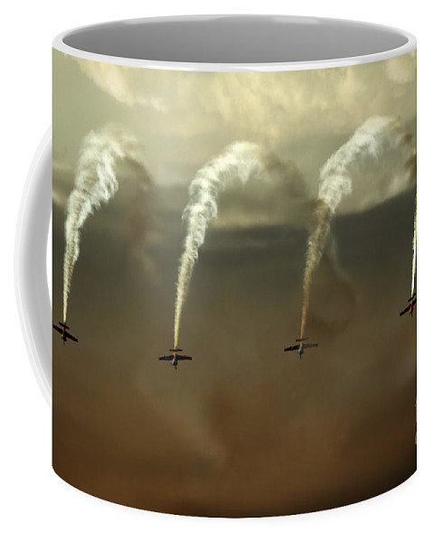 Blades Extra 300 Coffee Mug featuring the photograph Smoke Waterfall by Angel Tarantella