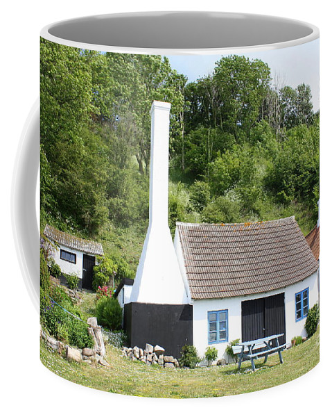Piepelunch Coffee Mug featuring the photograph Smokehouse. Denmark by Maria Douwma