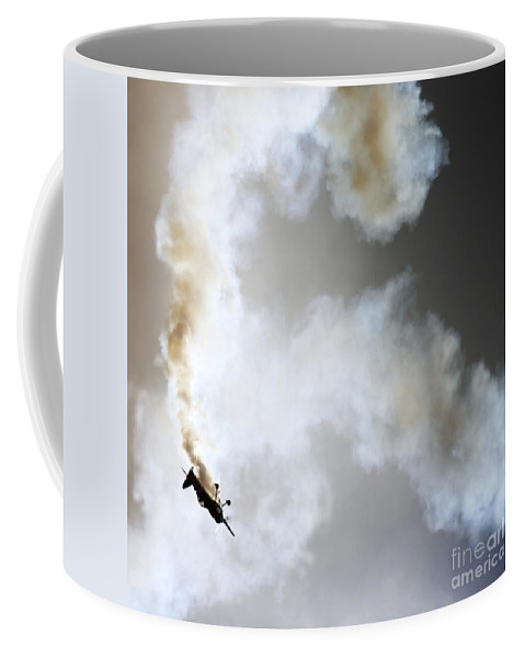 Airshow Coffee Mug featuring the photograph Smoking by Angel Ciesniarska