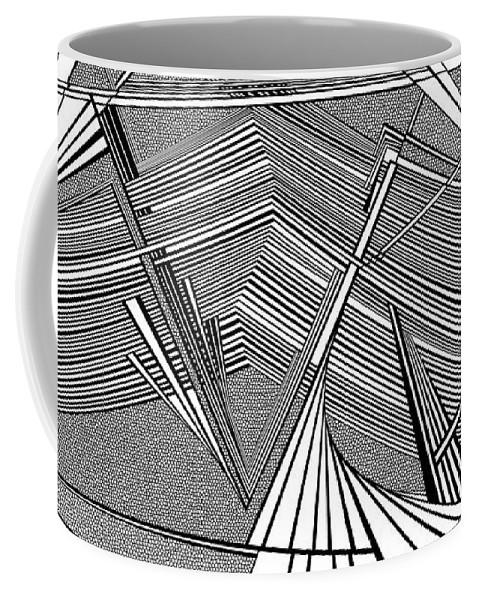 Dynamic Black And White Coffee Mug featuring the painting Smoking Art by Douglas Christian Larsen