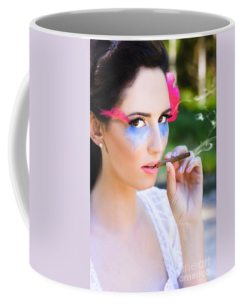 Attractive Coffee Mug featuring the photograph Smoking Glamour by Jorgo Photography - Wall Art Gallery