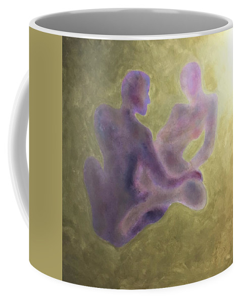 Gold Coffee Mug featuring the painting Only The Souls by Ron Tango Jr