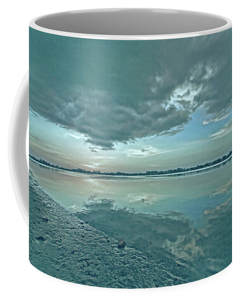 Blue Sky Coffee Mug featuring the photograph Smooth Blues by HH Photography of Florida