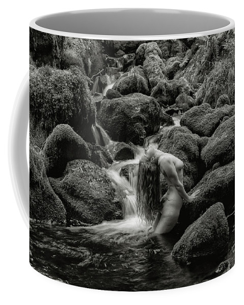 Waterfall Coffee Mug featuring the photograph Smooth Curves. by Andy Bradley