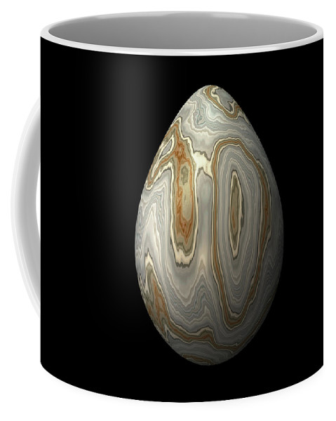 Series Coffee Mug featuring the digital art Smooth Grey Marble Egg by Hakon Soreide
