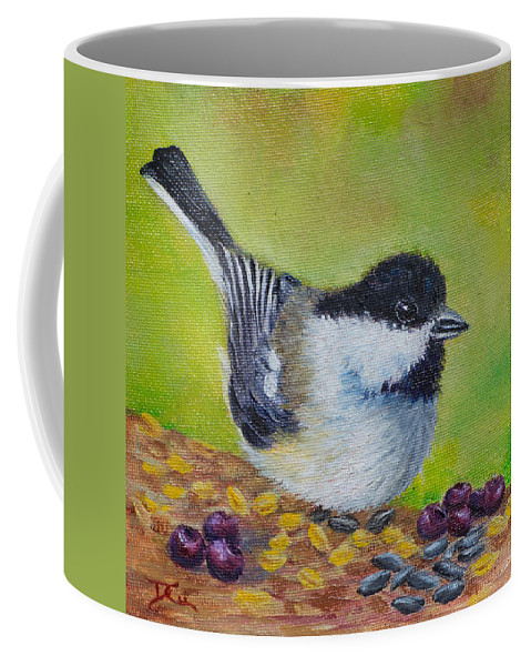 Bird Coffee Mug featuring the painting Smorgasbord by Dee Carpenter
