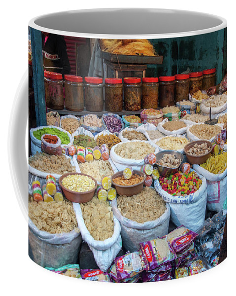 Lucknow Coffee Mug featuring the photograph Snack Seller by Mihir Pathare
