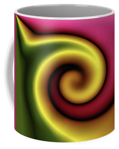 Colorful Coffee Mug featuring the digital art Snail by Kristin Elmquist