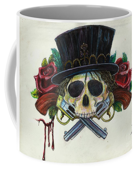 Kc Krimsin Coffee Mug featuring the painting Snake Eyes by KC Krimsin