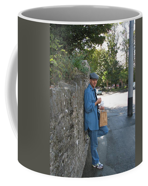 Hat Coffee Mug featuring the photograph Sneaking A Snack by Kelly Mezzapelle