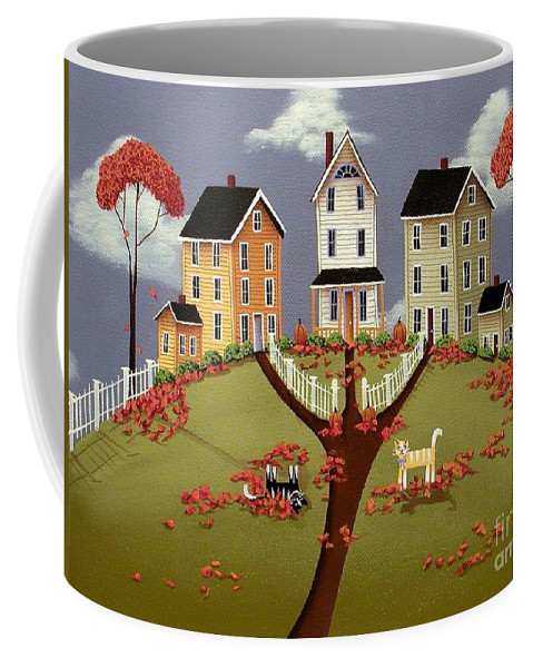 Art Coffee Mug featuring the painting Snicker And Doodle by Catherine Holman