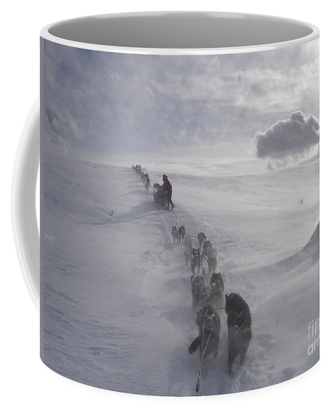 Landscape Coffee Mug featuring the photograph Snow And Clouds by Sarah Bevard