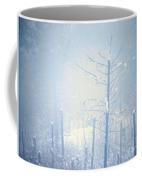 Snow Coffee Mug featuring the photograph Snow And Remnants Of The Fire 2 by Tara Turner